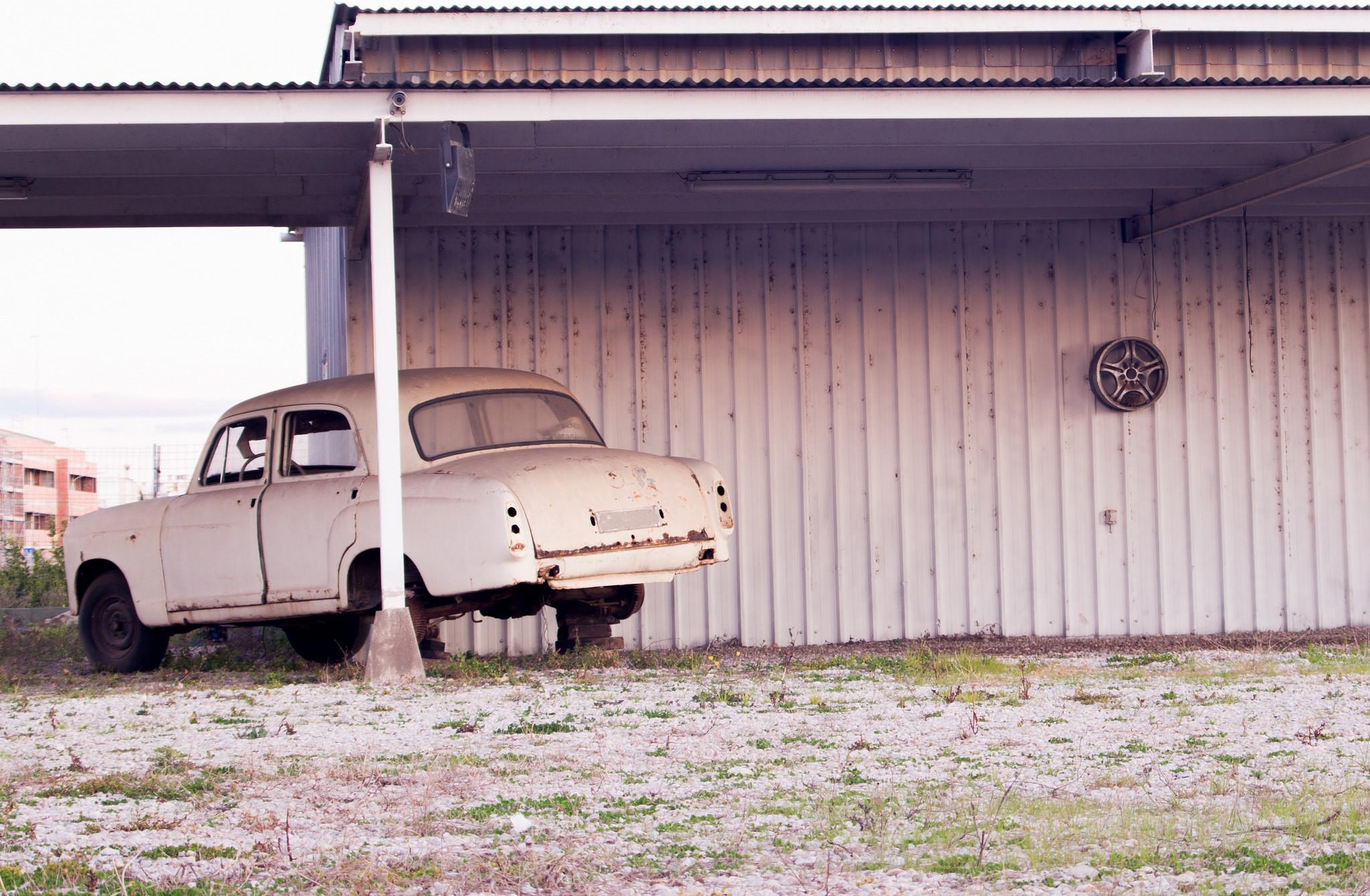 seguridad coche antiguo