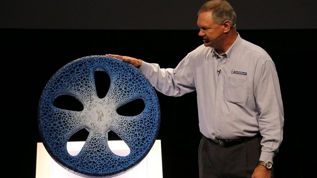 Michelin rueda de bio plástico