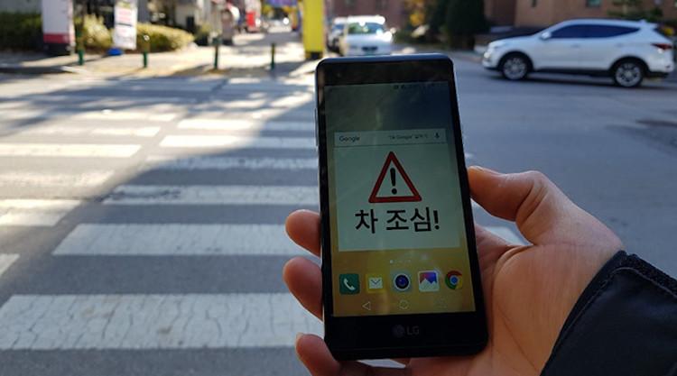 paso peatones smartphone