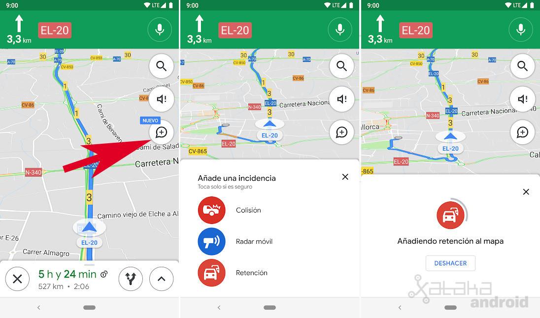 Radares en Google Maps