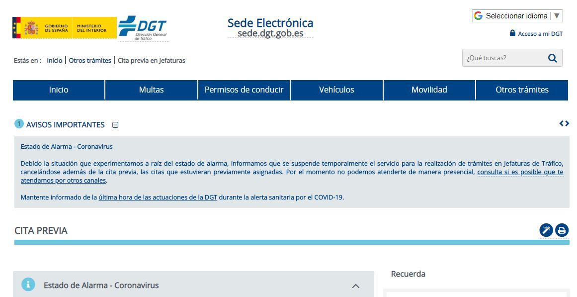 sede electronica DGT