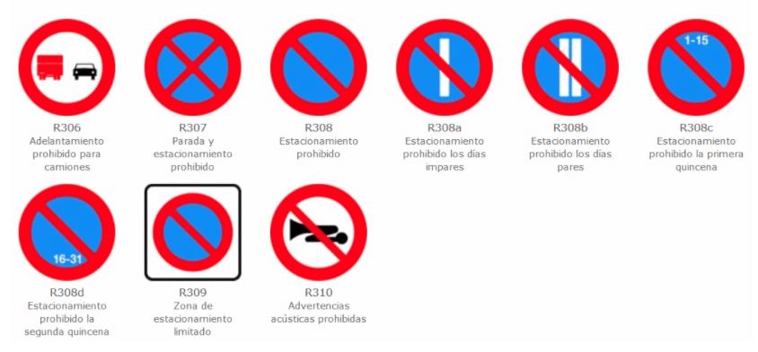 señales aparcamiento