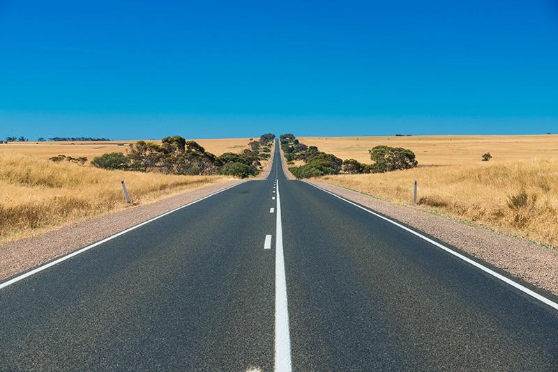 carretera recta pero no por ello más segura
