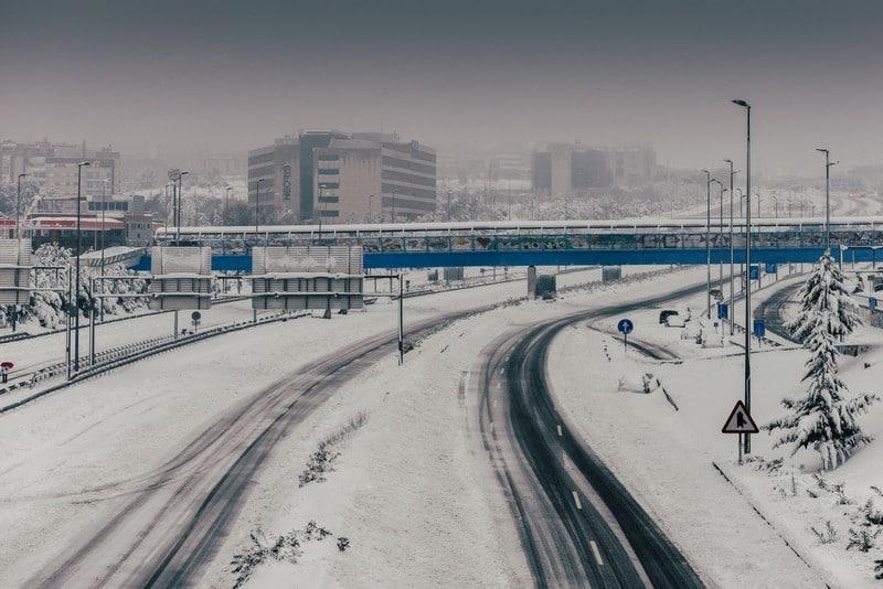 A-1 helada en Madrid