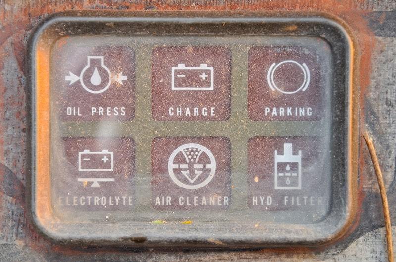 Panel instrumentos viejo