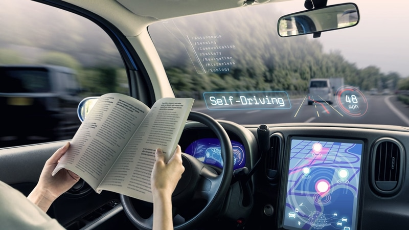 carretera para vehiculo autonomo