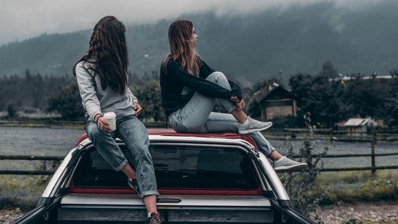 Descansando en el coche